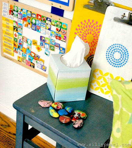A Colorful and Organized Entryway for Kids - The Silly Pearl #KleenexStyle #spon