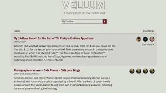 Vellum Turns Twitter Links Into a Reading List via Lifehacker