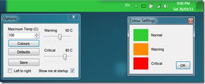 Temperature Taskbar
