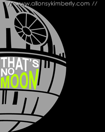 Star Wars Print: Death Star | allonsykimberly.com