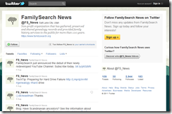 FamilySearch is on Twitter
