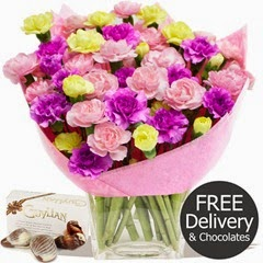 FREE DELIVERY Mothers Day Flowers - Mothers Day Wrap & Chocolates