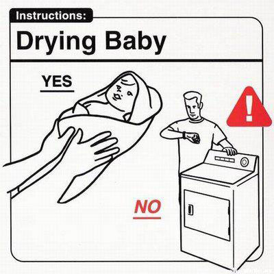 Baby Instructions: Drying Baby