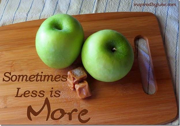 SometimesLessIsMore