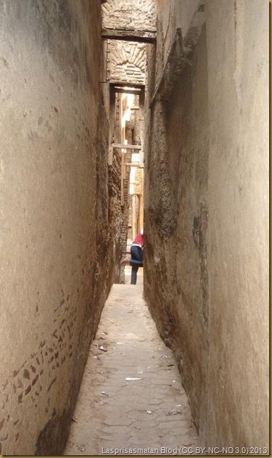 Algunas calles son verdaderamente estrechas