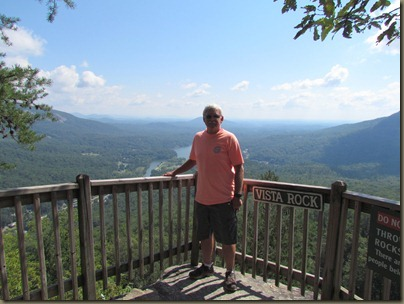 al at Chimney Rock, North Carolina
