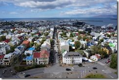 views from the top of the Hallgrimskirkja