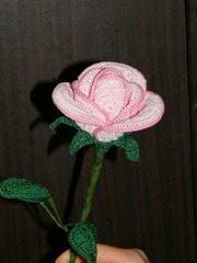 Horgolt rózsa2