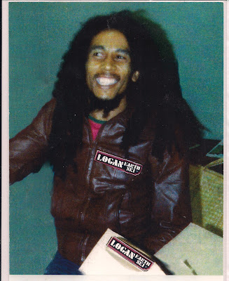 Bob Marley receiving boards for his kids Ziggy & David, notice the tail sticking out of the box, the boards were  Dura-Wedge's with a wedged tail instead of the camber rocker tail