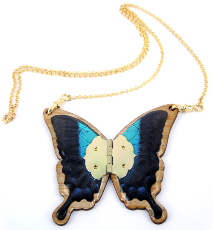 Luciana Gilded Butterfly Necklace by Lisa Black