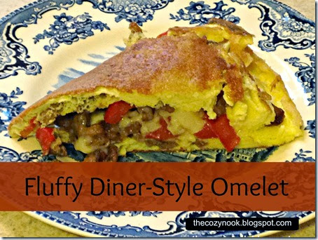Fluffy Diner-Style Omelet - The Cozy Nook