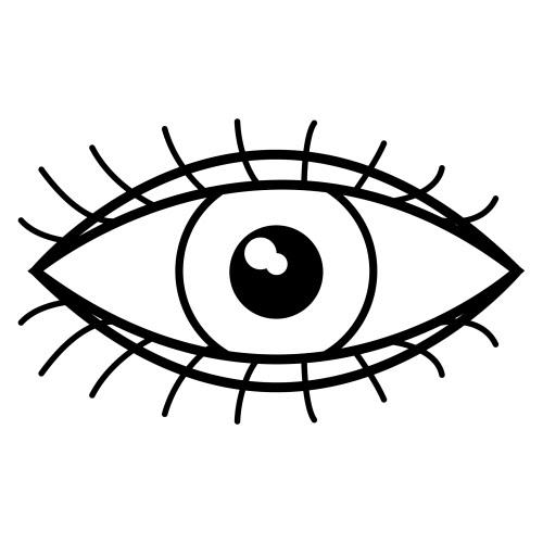 Ojo para colorear - Imageneitor