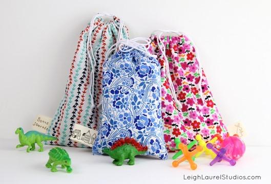 Drawstring Stocking Stuffer Gift Bags by Leigh Laurel Studios