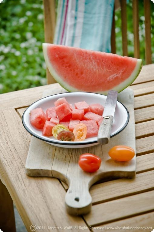 Watermelon Peach Feta Salad (0003) by Meeta K. Wolff