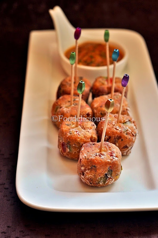 Foodelicious- Crispy Salsa Cubes