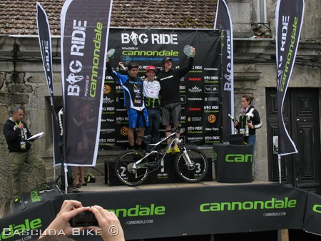 Podio de la General de la Big Ride de tui 2012.
