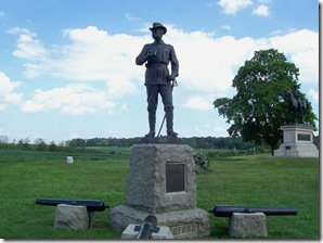 General John Buford statue marking the location of the start of the battle.