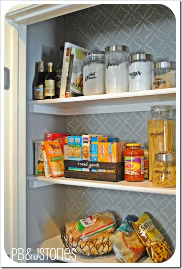 kitchen pantry organization labeling food