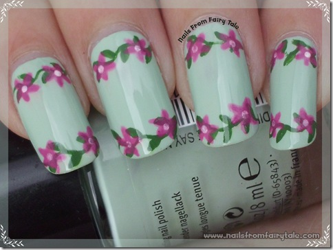 pastel green with flowers 3