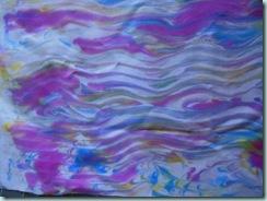 Fabric shav cream marble