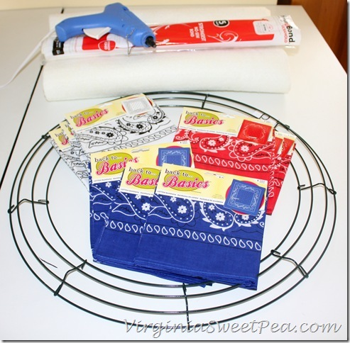 Bandana Wreath Supplies