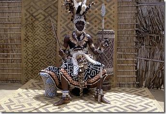Kuba Nyim (ruler) Kot a Mbweeky III, Bungamba village, Congo