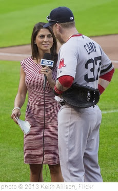 'Jenny Dell NESN On-Field Reporter, Mike Carp' photo (c) 2013, Keith Allison - license: http://creativecommons.org/licenses/by-sa/2.0/