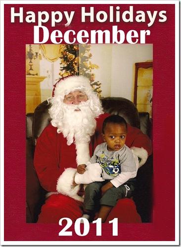 Kendry and Santa December 2011