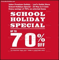 Levi's School Holiday Special - Johor Premium Outlet 2013 All Shopping Discounts Savings Offer EverydayOnSales