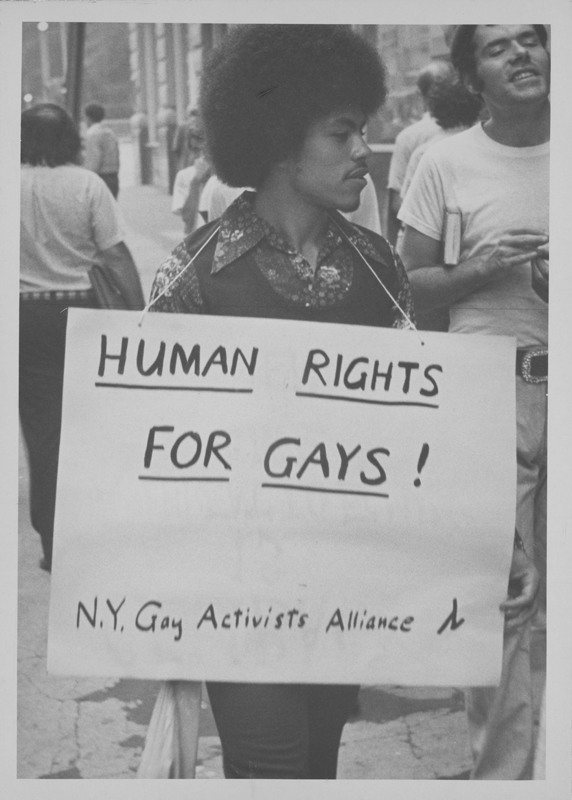 A Gay Activists Alliance (GAA) protest regarding a separation of church and state. August 28, 1974.