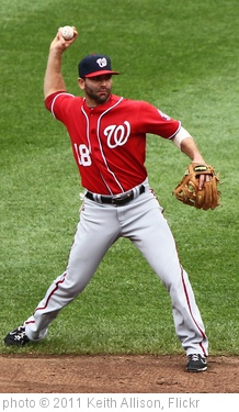 'Washington Nationals second baseman Danny Espinosa (18)' photo (c) 2011, Keith Allison - license: http://creativecommons.org/licenses/by-sa/2.0/