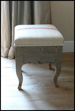 18th century bleached oak footstool