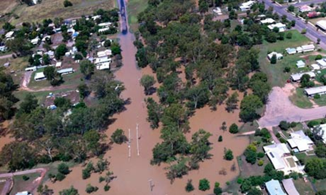 Floodwaters around St George, Queensland, Australia, February 2012. Queensland police service / AFP / Getty Images
