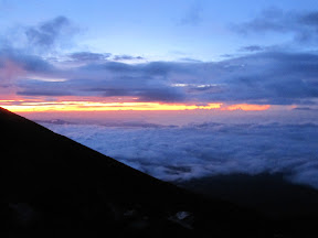The sea of clouds...