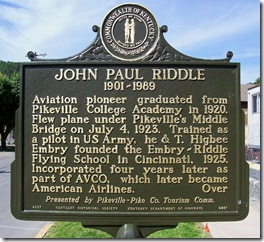 John Paul Riddle Marker (Side One) Pikeville, KY