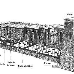 20 - Planta de templo egipcio 2