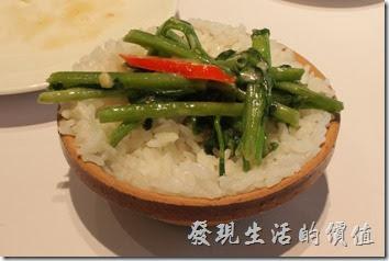 台南-1010湘。腐乳空心菜配白飯。