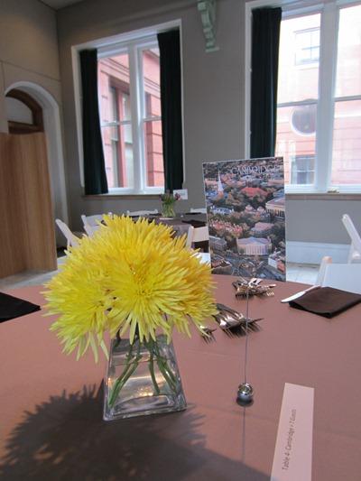 modern yellow centerpiece | Ideas in Bloom