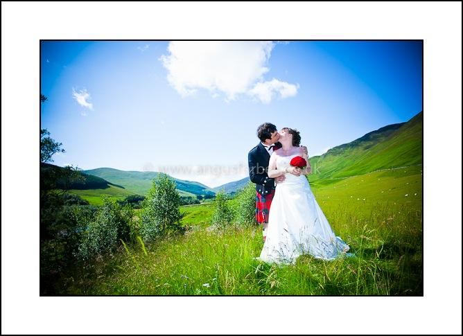 wedding photography at scottish standing stones