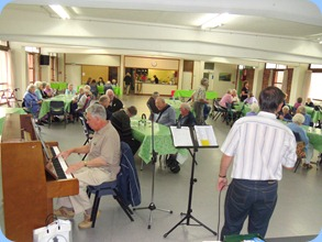 Some of the Prescott Club members enjoying the entertainment prior to their luncheon