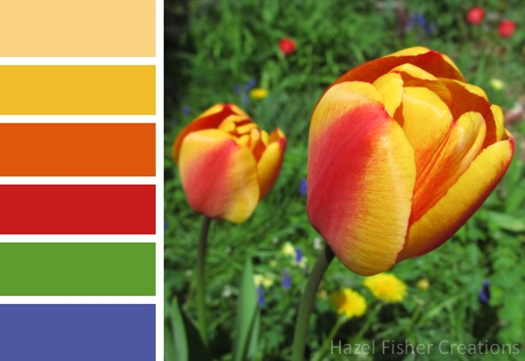 017 colour palette spring garden tulips