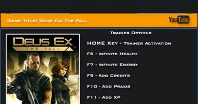 Deus Ex: The Fall v1.1.0 +8 Trainer LinGon | PC GAME TRAINERS