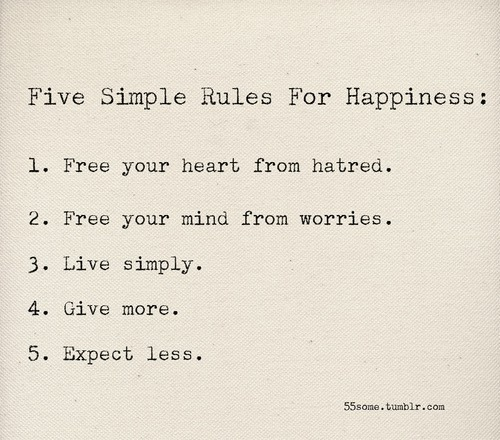rules for happiness via favim