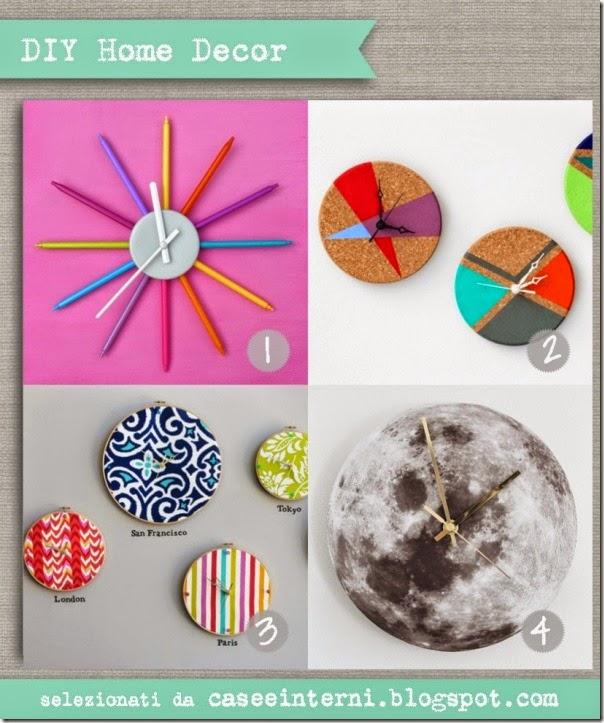 case e interni - DIY - tutorial come fare orologio