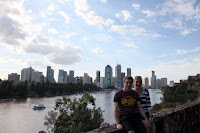 Aubain and Ingrid at Kangaroo Point