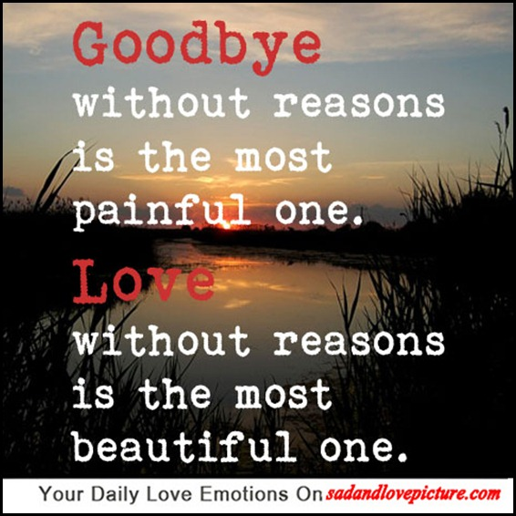 love without reason lasts the longest