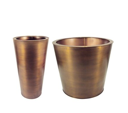 I am dazzled by these brass planters. (target.com)