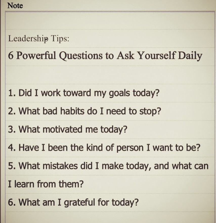 Questions To Ask Yourself Daily