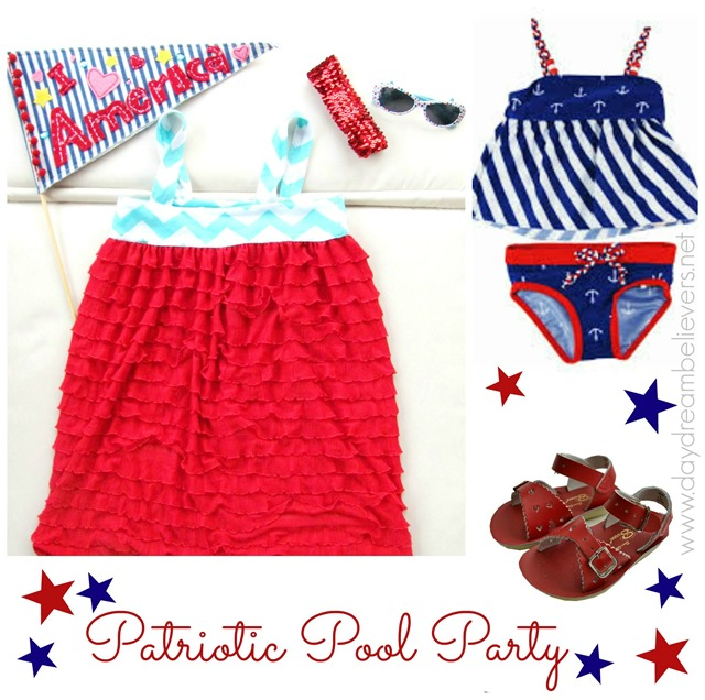 patriotic style guide for girls nautical pool party what to wear