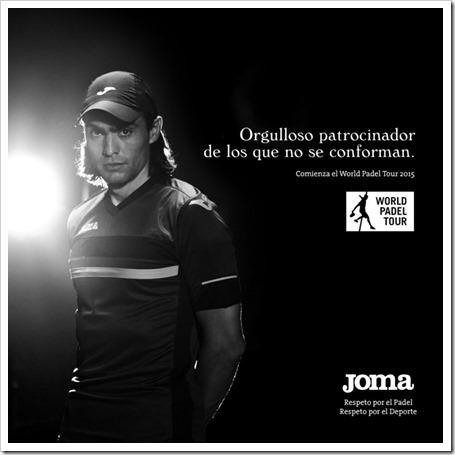 JOMA sigue avanzando con paso firme en el mundo del pádel. Nuevos productos y nuevos patrocinios World Padel Tour 2015.